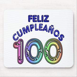 Feliz 100th Cumpleaños Mousepads