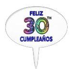 Feliz 30th Cumpleaños Cake Picks