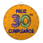 Feliz 30th Cumpleaños Dart Board