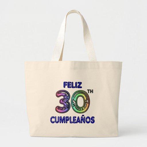 Feliz 30th Cumpleaños Tote Bags