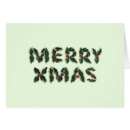 Feliz acebo de Navidad Tarjeta De Felicitación
