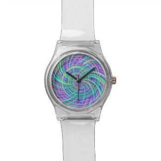 Feliz, aguamarina (c) relojes de pulsera