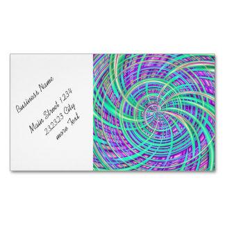 Feliz, aguamarina (c) tarjetas de visita magnéticas (paquete de 25)