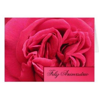 Feliz Aniversário - Rosa rosa Greeting Card