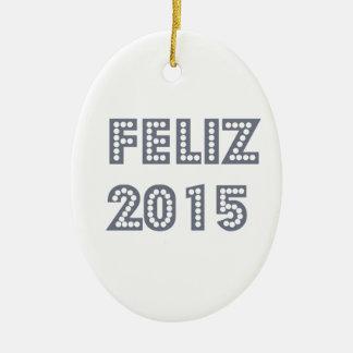 Feliz ano novo ceramic ornament