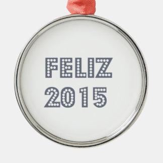 Feliz ano novo metal ornament