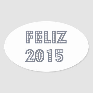 Feliz ano novo oval sticker
