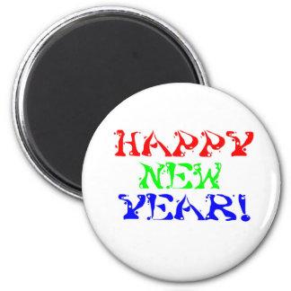 Feliz Año Nuevo 1 Imán Redondo 5 Cm