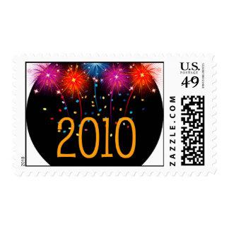 Feliz Año Nuevo 2010 del franqueo