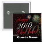 Feliz Año Nuevo 2010 - favor de fiesta personaliza Pin