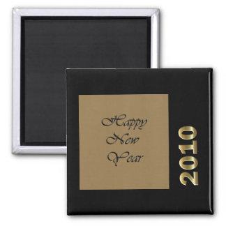 Feliz Año Nuevo 2010 Imán Cuadrado