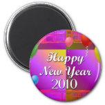 Feliz Año Nuevo 2010 Imán De Frigorifico