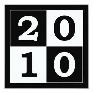 """Feliz Año Nuevo 2010 Invitación 5.25"""" X 5.25"""""""