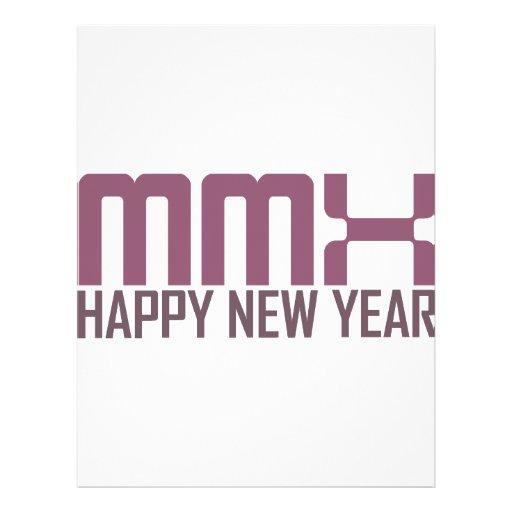 """Feliz Año Nuevo 2010 (MMX) Folleto 8.5"""" X 11"""""""