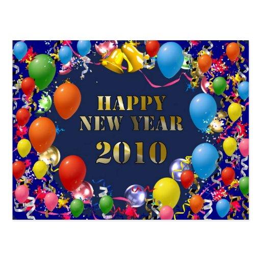 Feliz Año Nuevo 2010 Tarjeta Postal
