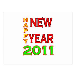 Feliz Año Nuevo 2011 Verde-Roja Postales