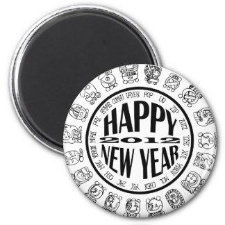 Feliz Año Nuevo 2012 Imán Redondo 5 Cm