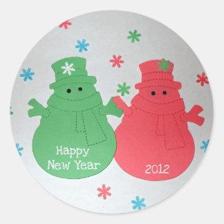 Feliz Año Nuevo 2012 Pegatina Redonda