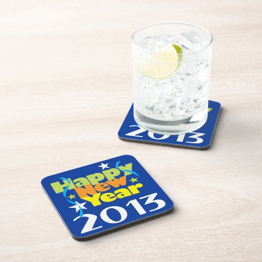 Feliz Año Nuevo 2013 Posavasos De Bebida