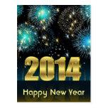 Feliz Año Nuevo 2014 de la postal