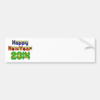 Feliz Año Nuevo 2014 Pegatina Para Auto