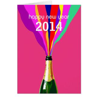 Feliz Año Nuevo 2014, personalizable Tarjeta De Felicitación
