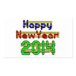 Feliz Año Nuevo 2014 Tarjetas De Visita