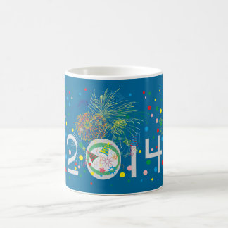 Feliz Año Nuevo 2014 Tazas De Café