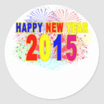 FELIZ AÑO NUEVO 2015.png Pegatinas Redondas