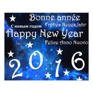 "Feliz Año Nuevo 2016 Folleto 4.5"" X 5.6"""
