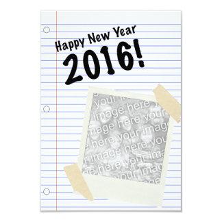 """¡Feliz Año Nuevo 2016! POLAROID Invitación 3.5"""" X 5"""""""