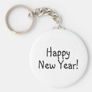 Feliz Año Nuevo 2 Llavero Redondo Tipo Pin