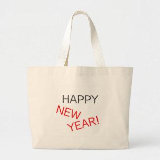 Feliz Año Nuevo 3 Bolsa Tela Grande