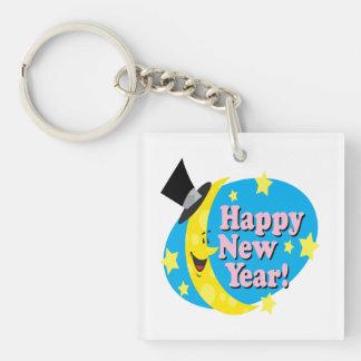 Feliz Año Nuevo 5 Llavero Cuadrado Acrílico A Doble Cara