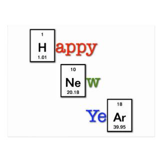 Feliz Año Nuevo a sus amigos del químico Tarjetas Postales