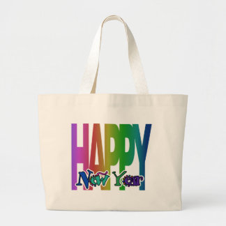 Feliz Año Nuevo Bolsa Tela Grande