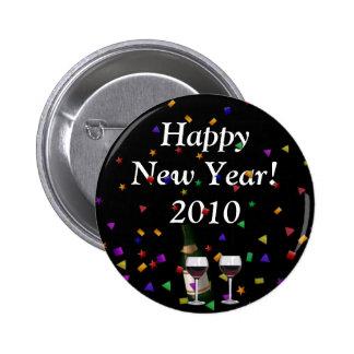 ¡Feliz Año Nuevo! Botón Pin Redondo De 2 Pulgadas