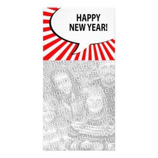 ¡Feliz Año Nuevo! burbuja cómica Tarjetas Fotográficas