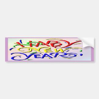 Feliz Año Nuevo Pegatina Para Auto