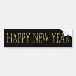 Feliz Año Nuevo Pegatina De Parachoque