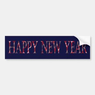 Feliz Año Nuevo Etiqueta De Parachoque