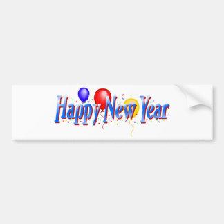¡Feliz Año Nuevo! Pegatina De Parachoque