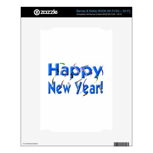 Feliz Año Nuevo Calcomanías Para El NOOK
