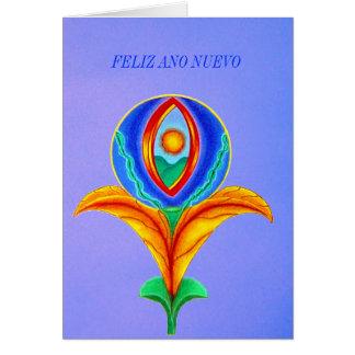 Feliz ano nuevo greeting card