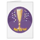 Feliz Año Nuevo Champán Felicitación
