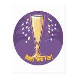 Feliz Año Nuevo Champán Tarjeta Postal