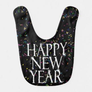 Feliz Año Nuevo chispeante Babero Para Bebé