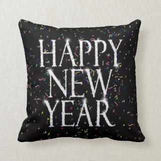 Feliz Año Nuevo chispeante Almohada