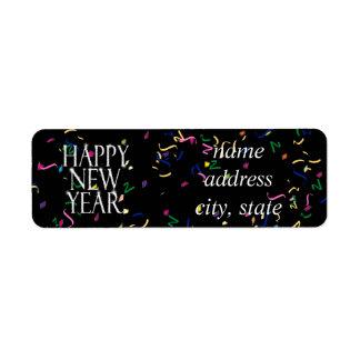Feliz Año Nuevo chispeante Etiqueta De Remite