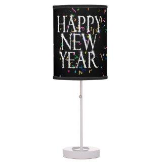 Feliz Año Nuevo chispeante Lámpara De Mesilla De Noche